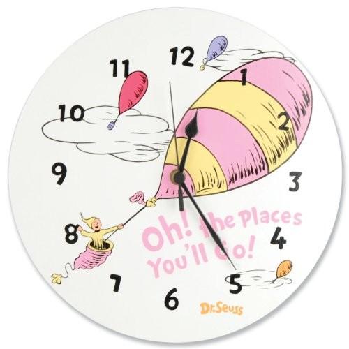 Trend Lab Dr. Seuss Horton Elephant Shaped Wall Clock, Blue [Blue]