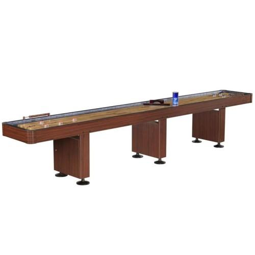 Hathaway Challenger 14' Deluxe Shuffleboard Table, Dark Cherry