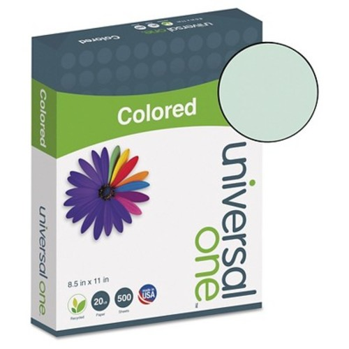 Universal Premium Colored Copier/Laser Printer Paper, 8 1/2 x 11, Green, 500 Sheets/Ream (UNV11203)