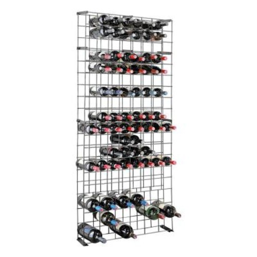 Wine Enthusiast 138-Bottle Black Floor Wine Rack