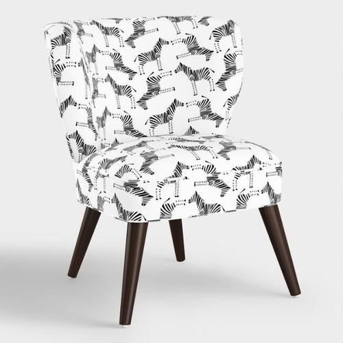 Block Print Zebra Carlye Upholstered Chair