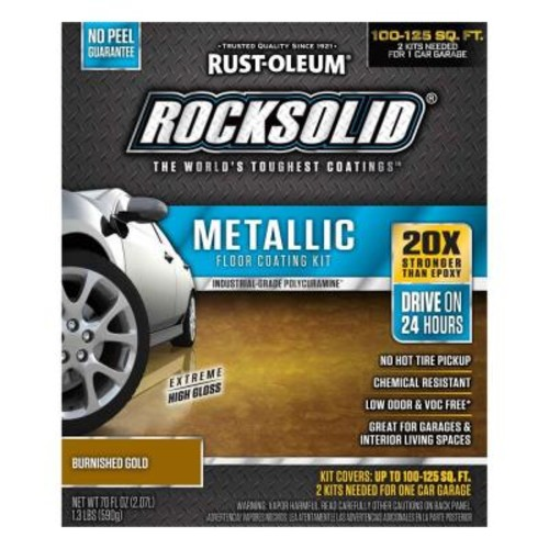 Rust-Oleum RockSolid 70 oz. Metallic Burnished Gold Garage Floor Kit (Case of 2)