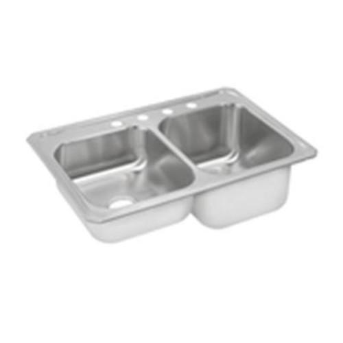 Elkay Celebrity Drop-In Stainless Steel 33 in. 4-Hole Double Bowl Kitchen Sink