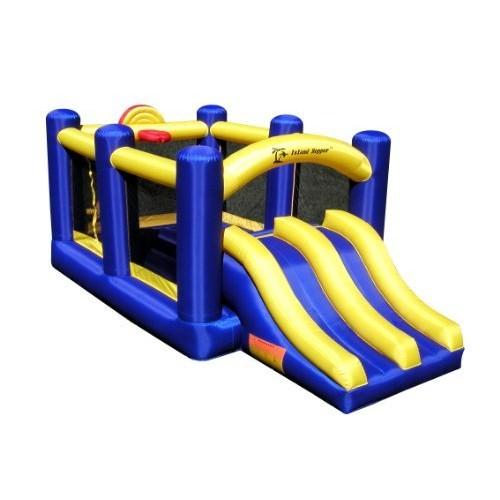 Island Hopper Racing Slide and Slam Recreational Bounce House: Toys & Games