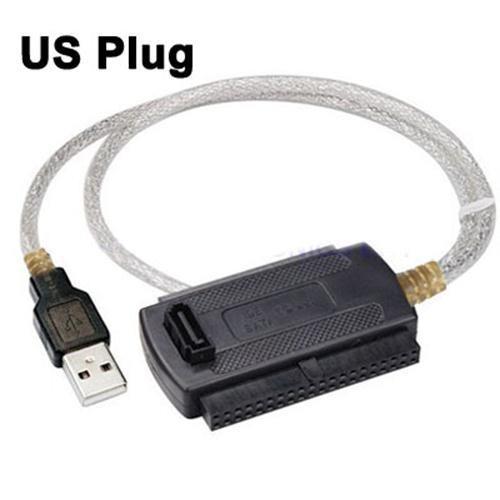 USB 2.0 to IDE & SATA Cable (US/EU Plug)
