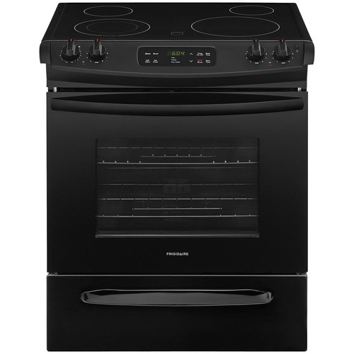 Frigidaire 30 in. 4.6 cu. ft. Slide-In Electric Range with Self-Cleaning Oven in Black