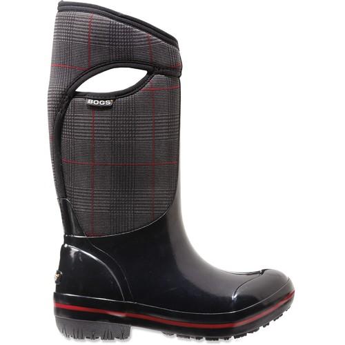 Bogs Plimsoll Prince of Wales Tall Rain Boots - Women's [black 6]