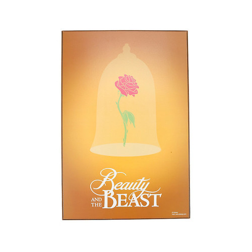 Disney Beauty And The Beast Enchanted Rose Wood Wall Art