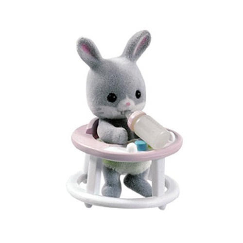 Calico Critters Friends in Mini Carry Cases - Bunny and Baby Walker
