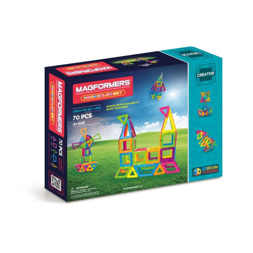 Magformers Neon 70 Piece Magnetic Construction Set