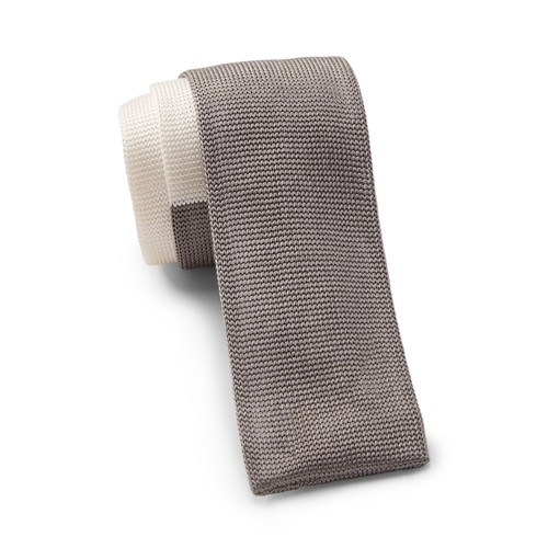 Silk Colorblocked Knit Tie