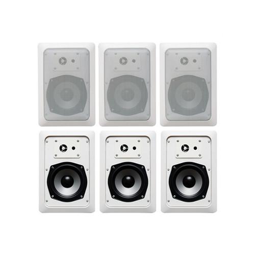Acoustic Audio CS-IW520 In Wall Speaker 3 Pair Pack 2 Way Home Theater 1200 Watt CS-IW520-3PR