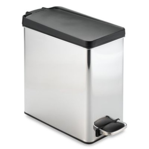 simplehuman Brushed Stainless Steel 10-Liter Profile Step Trash Can
