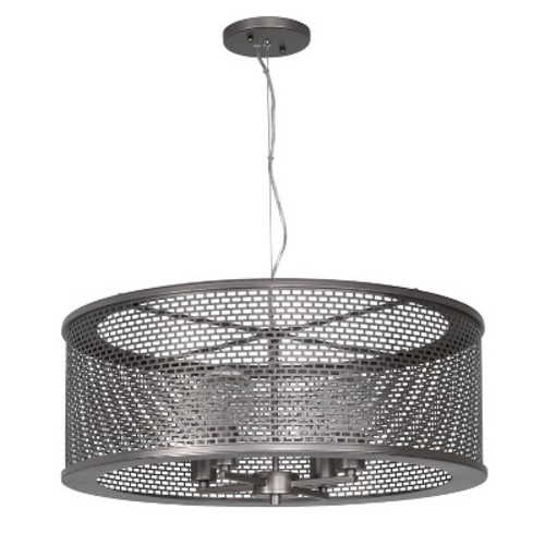 Varaluz 231P04NB Lit-Mesh Test 4-Light Pendant - New Bronze Finish: Kitchen & Dining [4 Light]