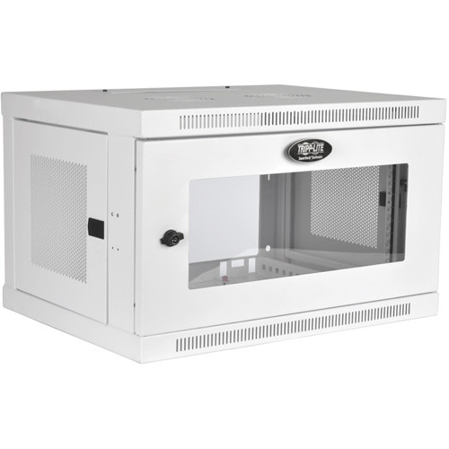 Tripp Lite 6U Wall Mount Rack Enclosure Cabinet White w/ Acrylic Glass Door