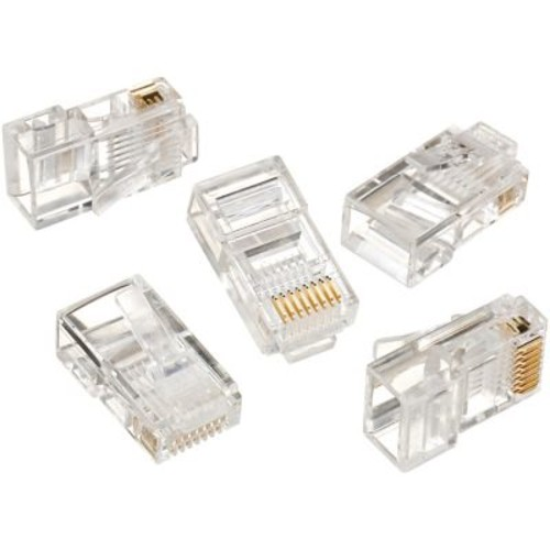 IDEAL RJ-45 8-Position 8-Contact Round Solid Modular Plug, 25/Pack