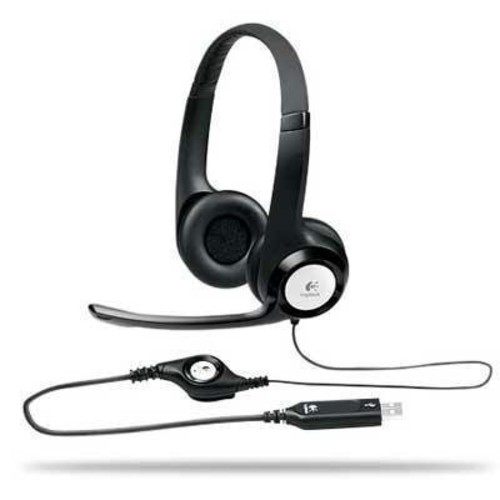 Logitech USB Headset H390 with Noise Cancelling Mic [One Size]