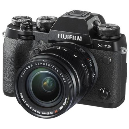 Fujifilm X-T2 Mirrorless with 18-55mm OIS Lens, Black With Pro Accessory Bundle