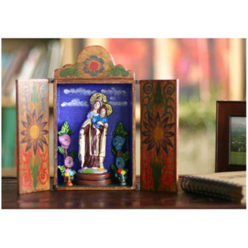 'Our Lady of Mount Carmel' Retable Figurine