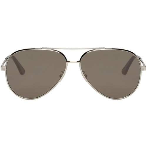 SAINT LAURENT Silver Classic 11 Zero Sunglasses