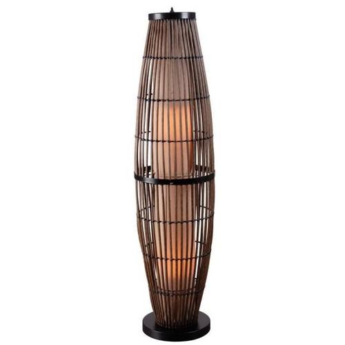 Kenroy Home Biscayne 51 in. Rattan Outdoor Floor Lamp