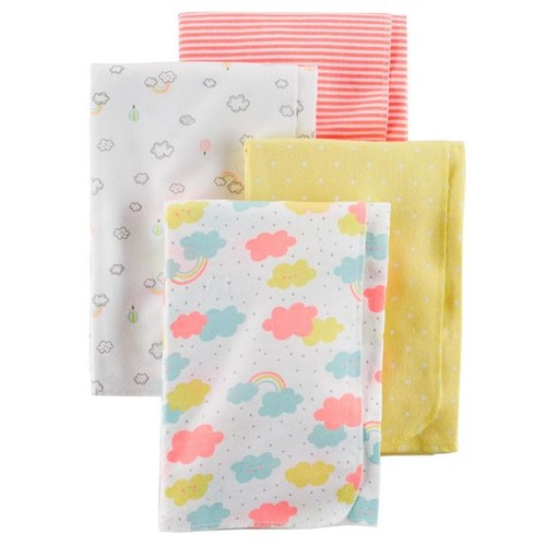 4-Pack Flannel Receiving Blankets