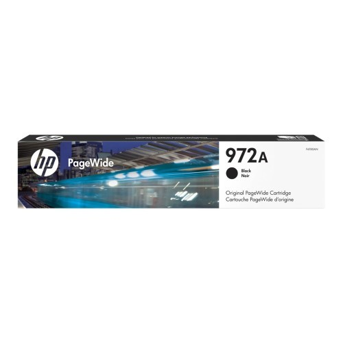 HP Inc. 972A - 64 ml - black - original - PageWide - ink cartridge - for PageWide MFP 377; PageWide Pro 452, 477, 552, 577 (F6T80AN)