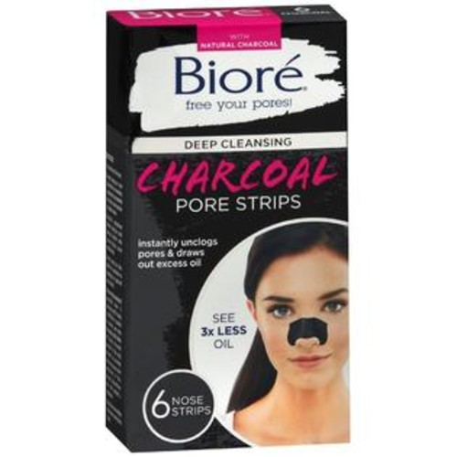 Bior_ Deep Cleansing Charcoal Pore Strips, 6 Count
