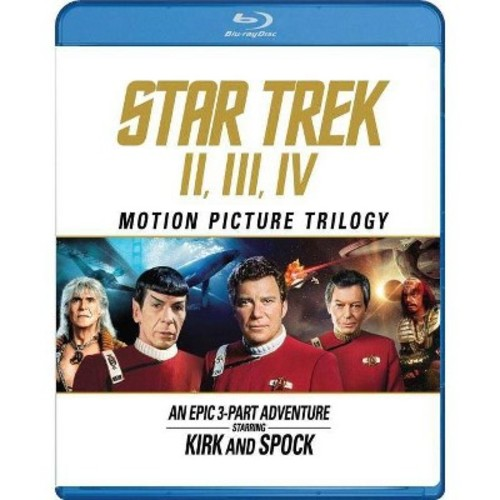 Star Trek Motion Picture Trilogy: II, III, IV (Celebrating The 50th Anniversary) (Blu-ray)