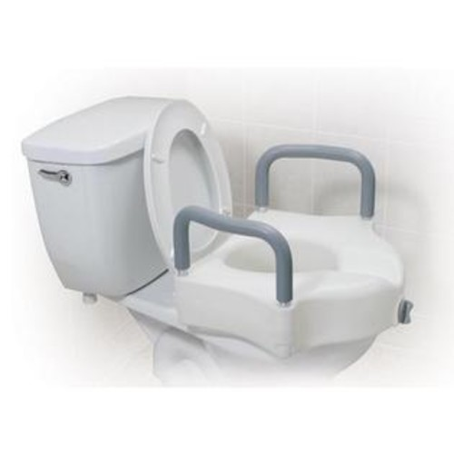 Drive Medical Raised Toilet Seat w/ Lock & Padded Removable Arms Retail