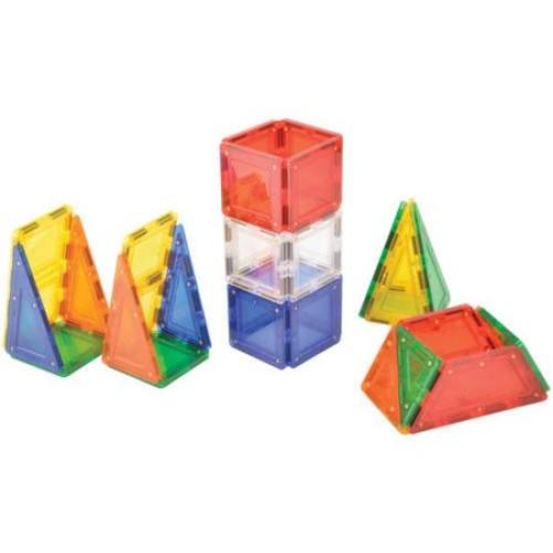 MagWorld 3D Magnetic Building Tiles 42 Pieces - Rainbow