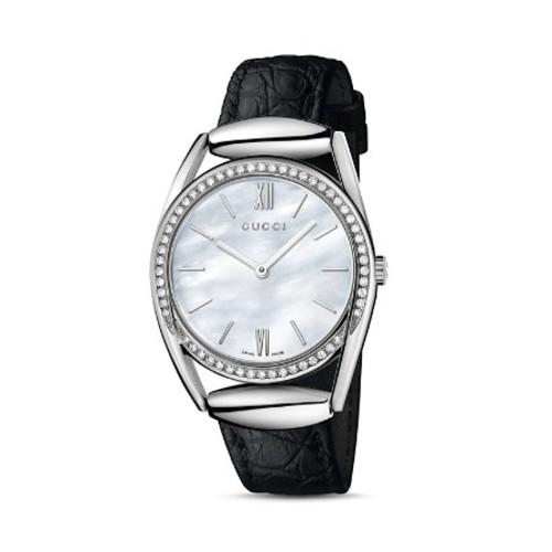 GUCCI Horsebit Watch With Diamonds, 34Mm