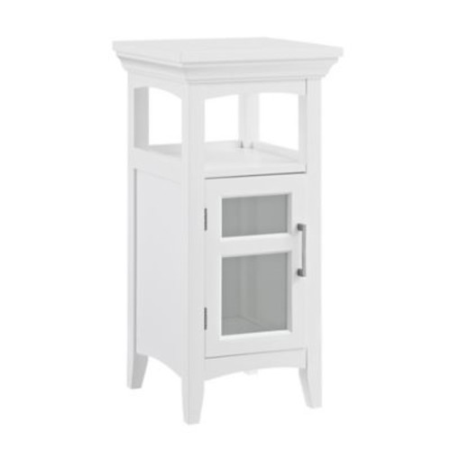 Simpli Home Avington 14-Inch Floor Storage Cabinet in White