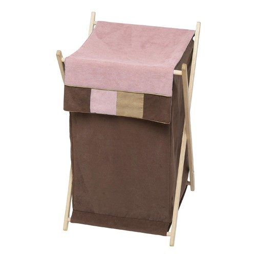 Sweet Jojo Designs Soho Pink and Brown Collection Laundry Hamper