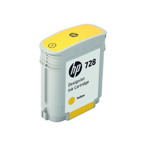 HP Inc. 728 - 300 ml - yellow - original - DesignJet - ink cartridge - for DesignJet T730, T830 (F9K15A)