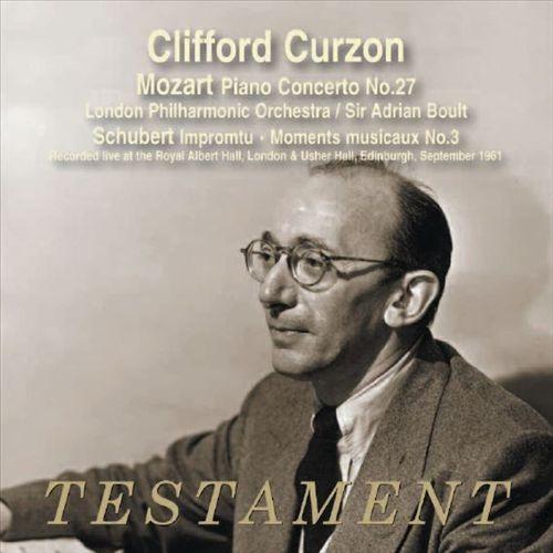 Mozart: Piano Concerto No. 27; Schubert: Impromptus, D. 899; Moment musicaux No. 3 [CD]