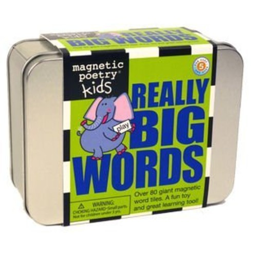 Magnetic Poetry - Kids Really Big Words Kit - Ages 5 and Up - Words for Refrigerator - Write Poems and Letters on the Fridge - Made in the USA [Really Big Words]