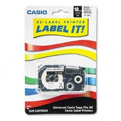 Casio Inc. XR118BK Tape Cassette for EZ-Label Printer [1-Pack]
