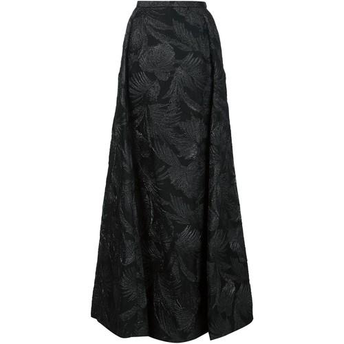 DELPOZO Long Jacquard Skirt