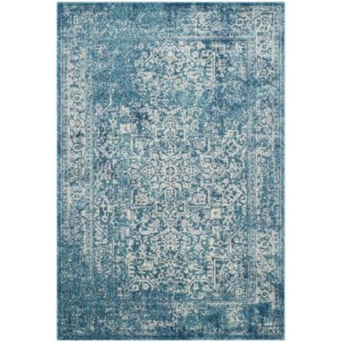 Safavieh Evoke Blue/Ivory 5 ft. 1 in. x 7 ft. 6 in. Area Rug