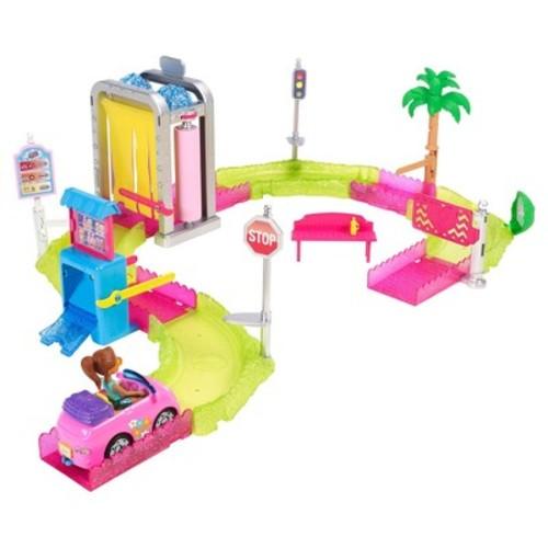 Barbie On The Go Car Wash Playset