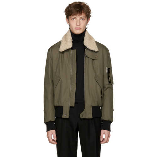 SAINT LAURENT Khaki 'Bad Lieutenant' Bomber Jacket