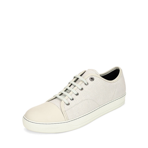 LANVIN Textured Leather Low-Top Sneaker