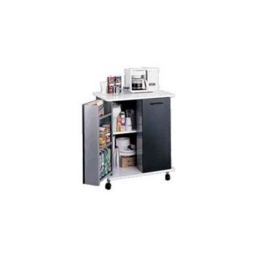 Mobile Refreshment or Microwave Stand [Black]