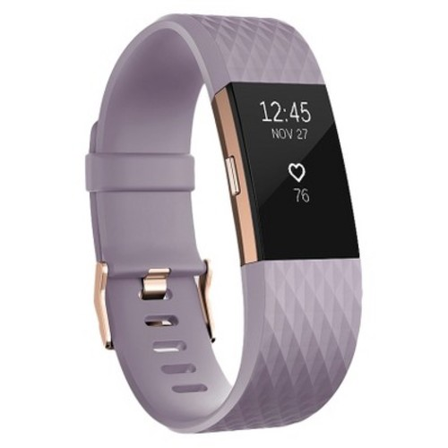 Fitbit Charge 2 Heart Rate + Fitness Wristband - Rose Gold
