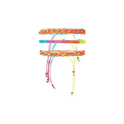 Neon Beaded Bracelet Set