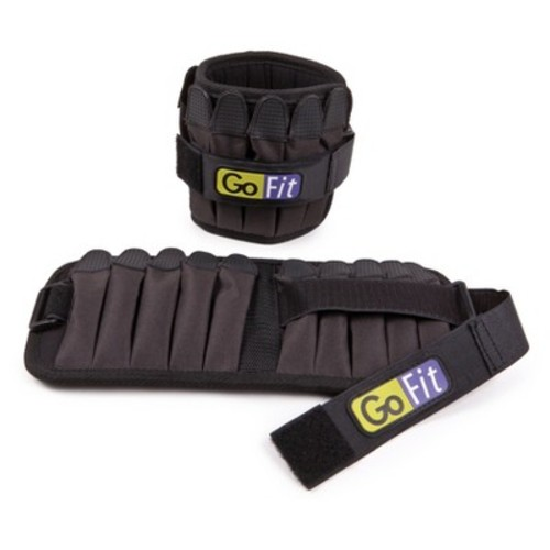 GoFit 10-Pound Padded Adjustable Ankle Weight Set