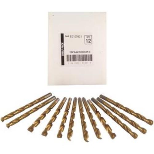 Disston Tool BLU-MOL 13/64 inch Titanium Drill Bits (Pack of 12)