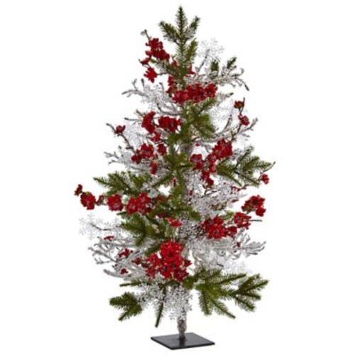 Nearly Natural 26 Plum Blossom Pine Ice Twig Tree (5478)