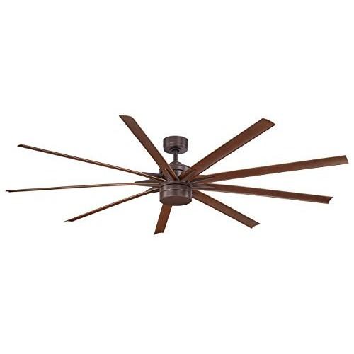 Fanimation FPD8148BN Odyn LED Ceiling Fan, 84-Inch, Brushed Nickel [Brushed Nickel]